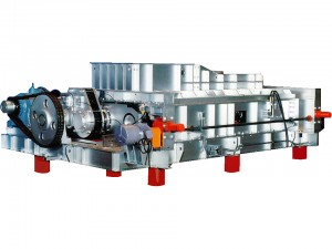 Both-end supported dual-axle screw type garbage feeder
